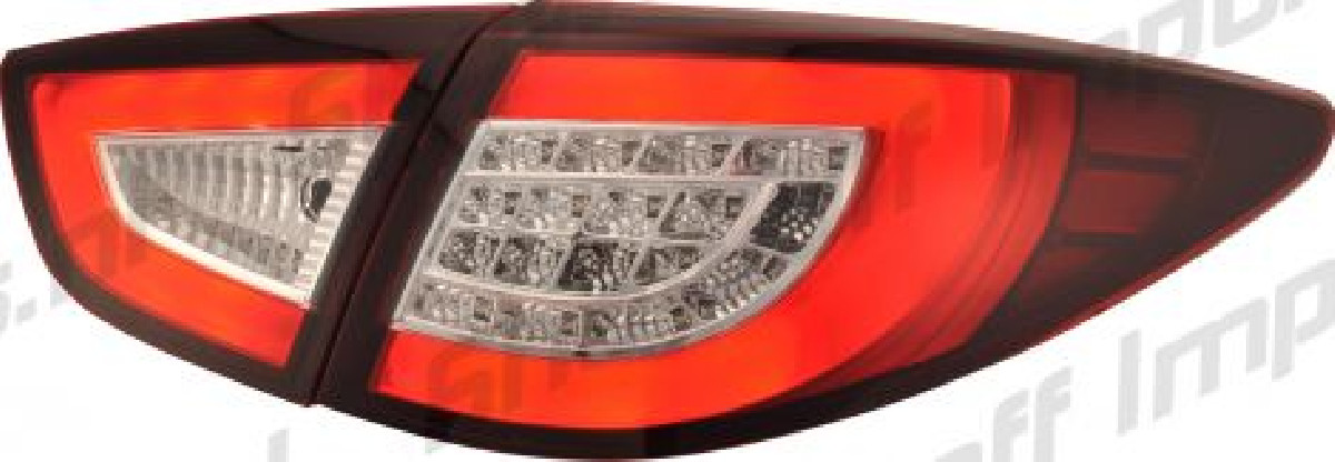 Hyundai IX35 10+ LED Taillights Set Red/Clear
