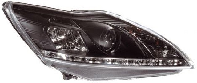 Ford Focus Mk2 08-11 Headlights Set Black