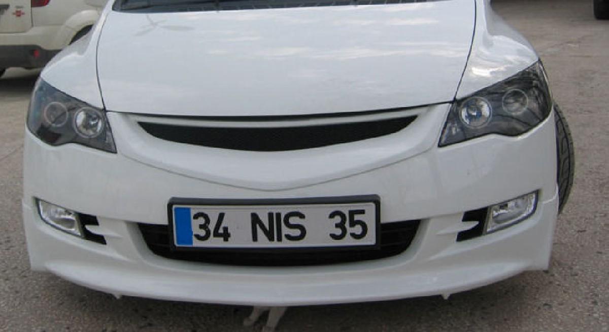 Honda Civic 4D/Hybrid 05-08 ABS Grill 4 Türer
