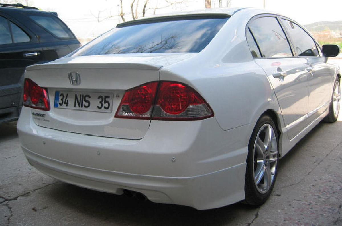 Honda Civic 4D/Hybrid 05+ Mugen Look ABS Rear Lip Heckansatz
