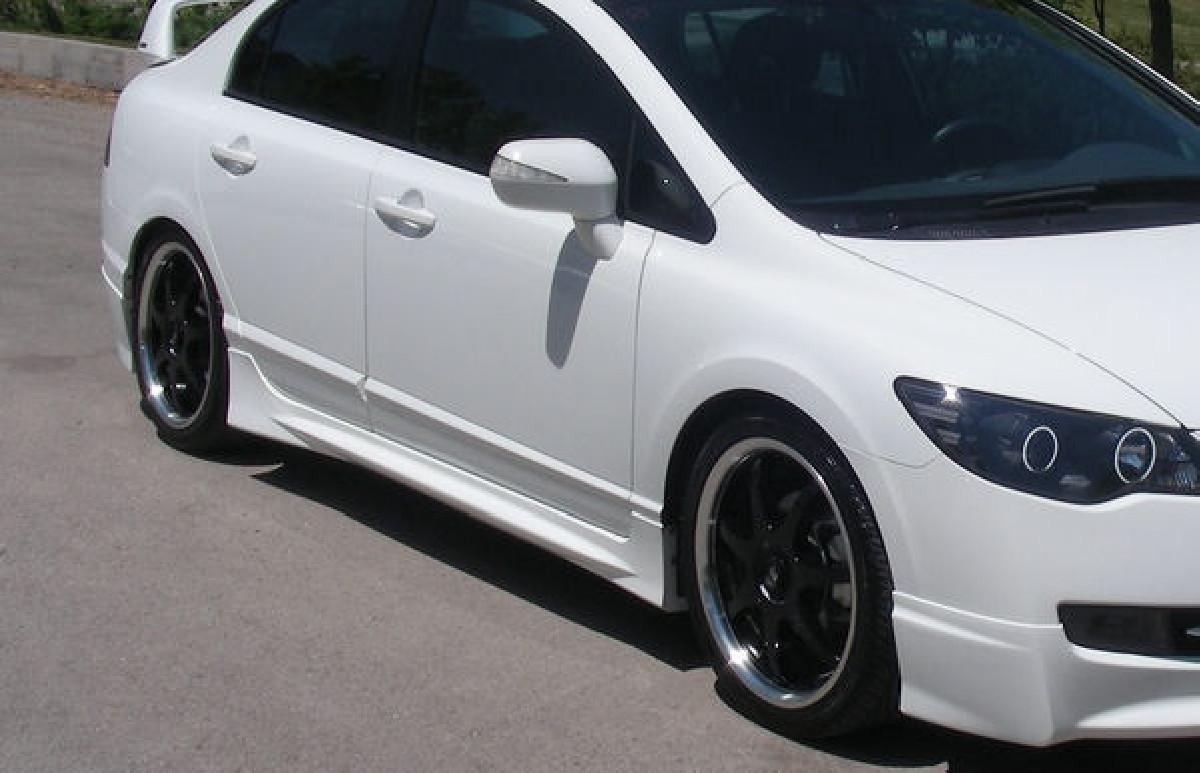 Honda Civic 4D/Hybrid 05+ Mugen Look ABS Sideskirts Seitenschweller Set