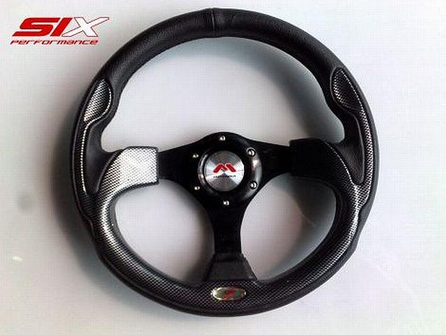 SIX Motora Lenkrad Tokio Schwarz Carbonlook 320mm