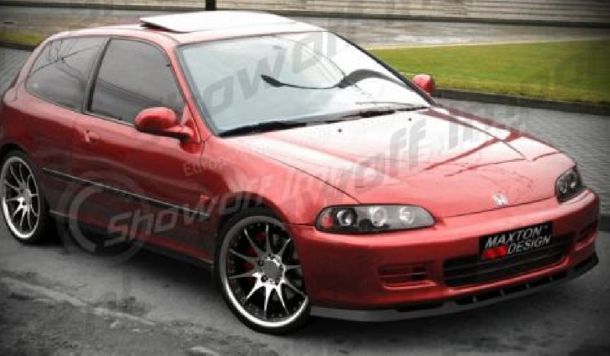 Honda Civic 92-95 2/3D MXT Front Lip ABS Gloss Black