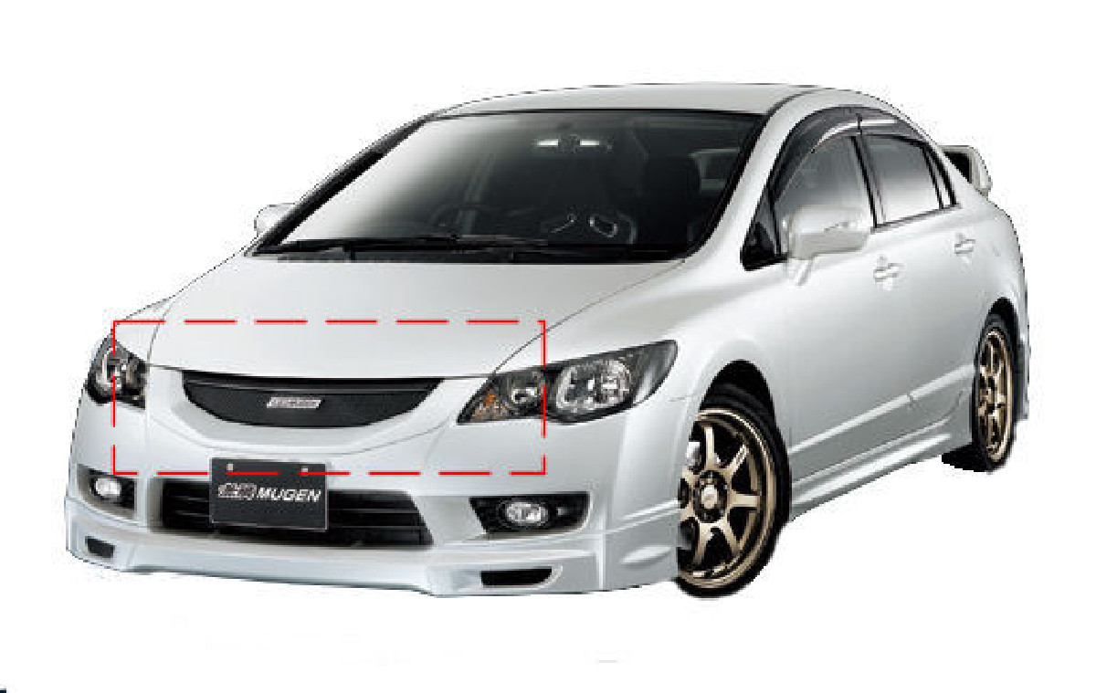 Honda Civic 4D/Hybrid 09+ Mugen Look ABS Front Grill