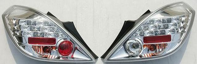 LED Rückleuchten Opel Corsa D 3T 06-10 Chrom