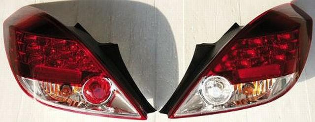LED Rückleuchten Opel Corsa D 3T 06-10 Rot/Klar