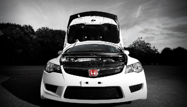 Frontgrill Honda Civic 4T Hybrid 05+ Type R Look PU