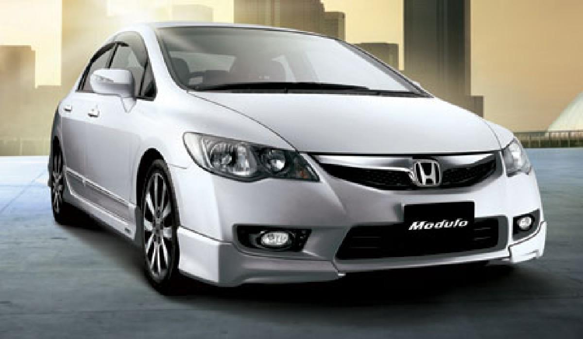 Honda Civic 4D/Hybrid 09+ Modulo ABS Front Bumper Addons Front Stoßstangen Ecken