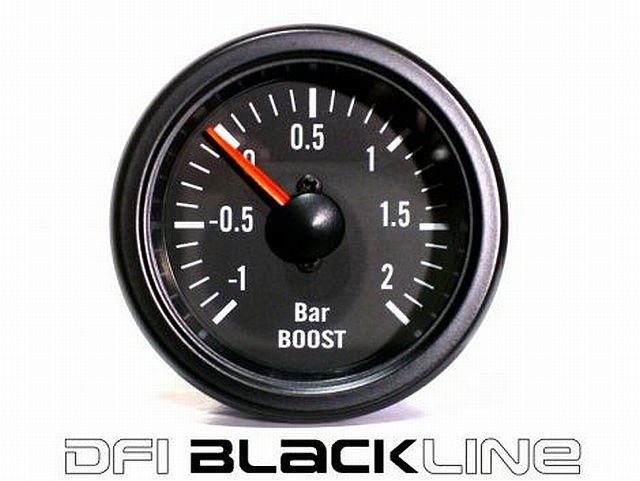 DFI Blackline Universal Meter Gauge 52mm - Boost (Bar)