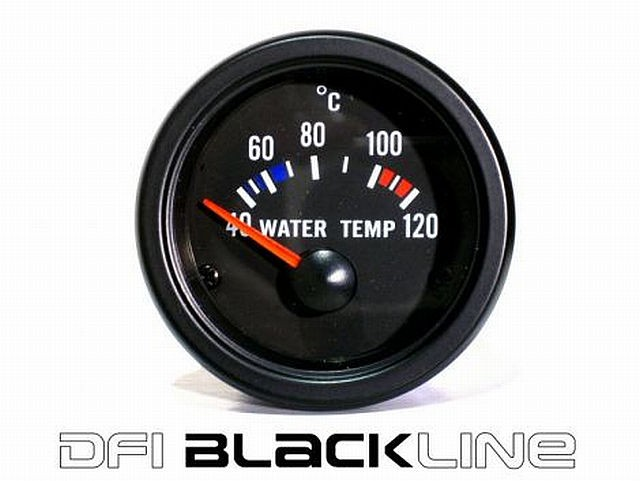 DFI Blackline Universal Meter Gauge 52mm - Water Temp (Celc)
