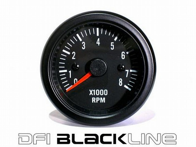 DFI Blackline Universal Meter Gauge 52mm - RPM Tacho (8000)