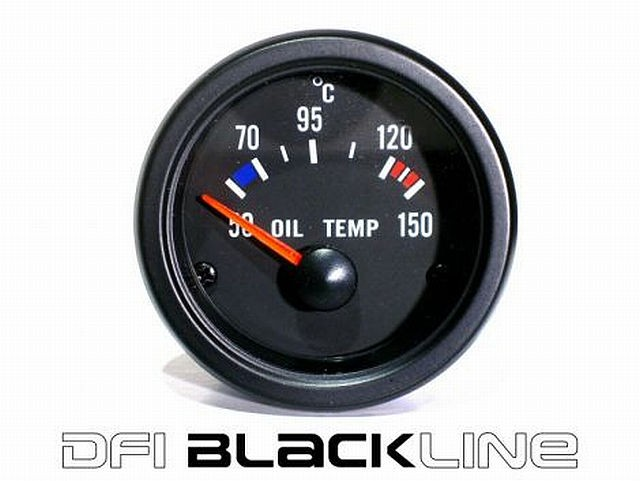 DFI Blackline Universal Meter Gauge 52mm - Oil Temp (Celc)