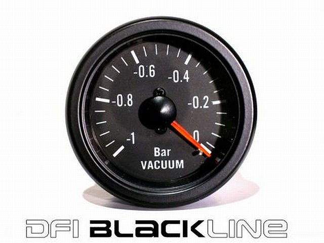 DFI Blackline Universal Meter Gauge 52mm - Vacuum (Bar)