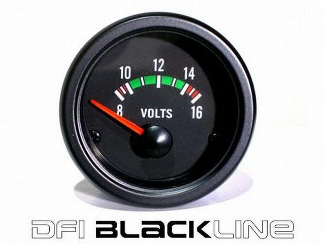 DFI Blackline Universal Meter Gauge 52mm - Volt (8-16V)