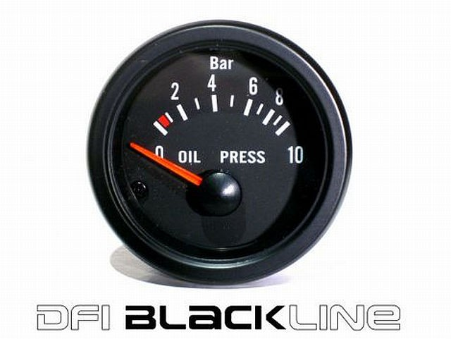 DFI Blackline Universal Meter Gauge 52mm - Oil Pressure (Bar)