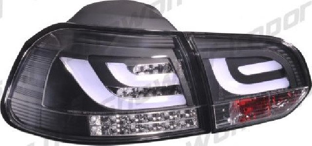VW Golf 6 LED Taillights Set Black V2