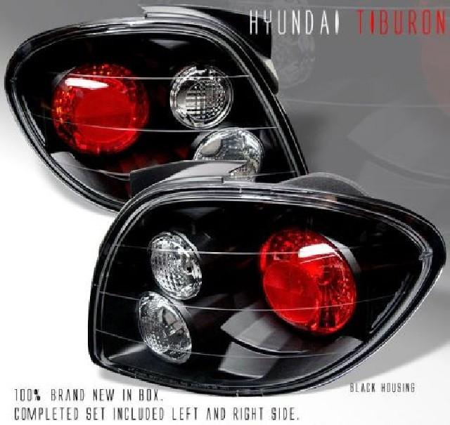 Hyundai Tiburon 00-02 Taillights Black [SR]