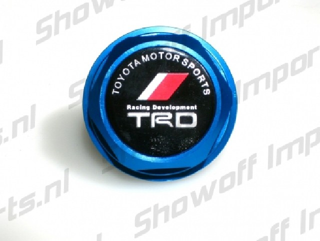 Universal Toyota TRD Style Oil Cap TYPE 2 Blue