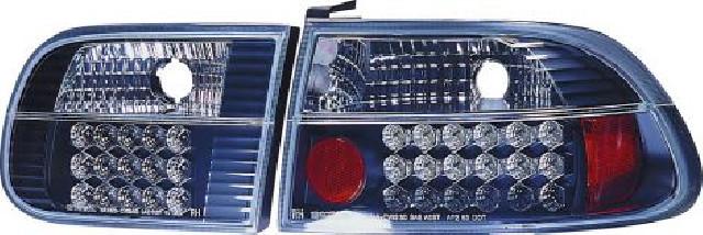 Honda Civic 3D HB 92-95 Black G4 LED Taillights Rücklichter