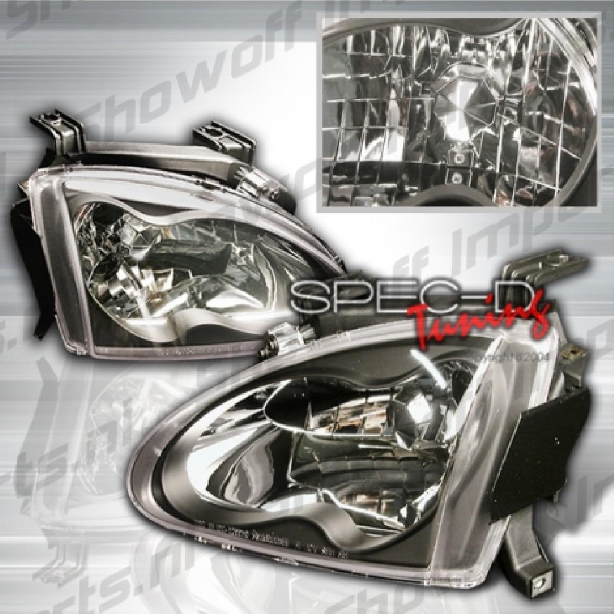 Honda Delsol 92-97 Headlights Black [SR]