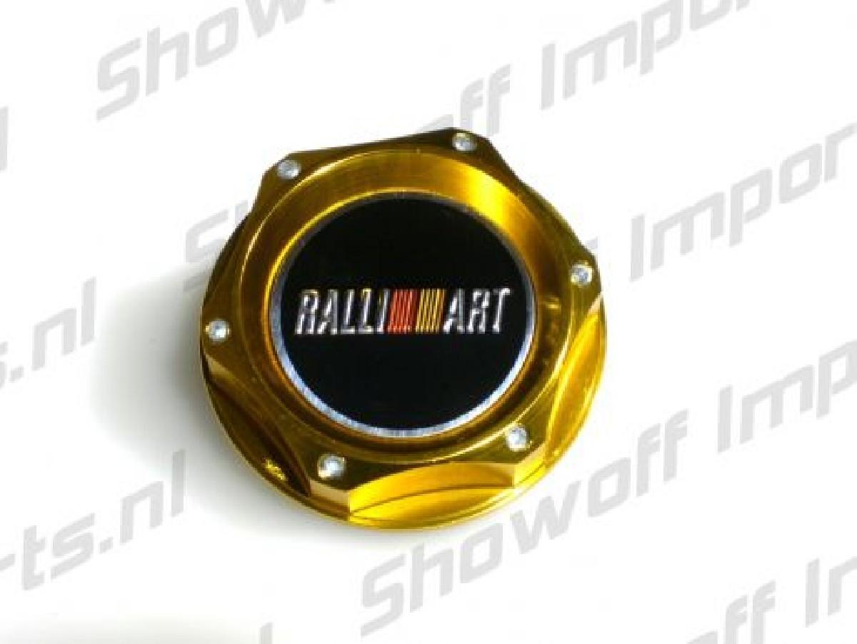 Universal Mitsubishi Ralliart Style Oil Cap TYPE 2 Gold