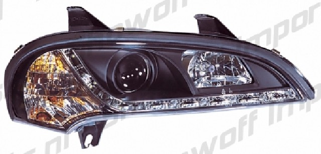 Opel Tigra A R8 Style LED Headlights Black V1