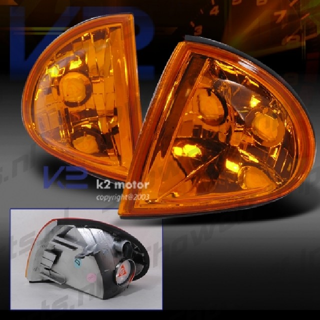 Honda CRX DelSol 92+ JDM Amber Front Signal Lights Clear