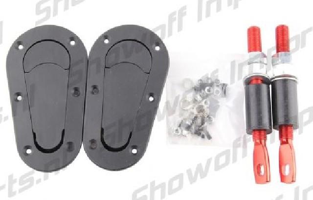 Universal Racing Plus Hood Fasteners Black/Red