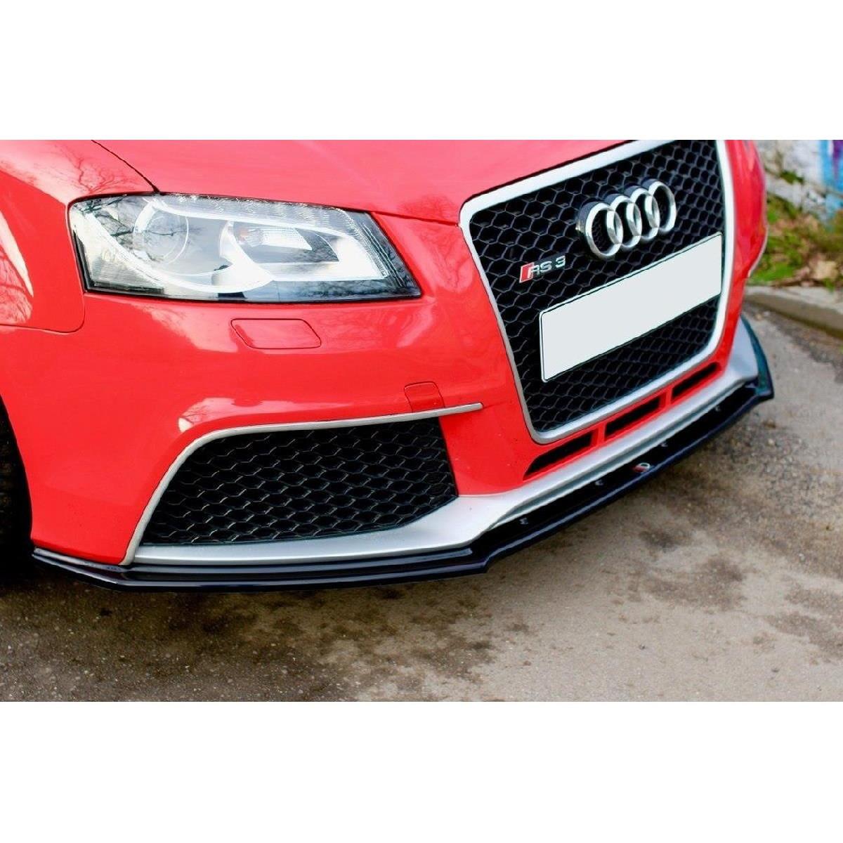Cup Spoilerlippe Front Ansatz V.1 für Audi RS3 8P schwarz matt