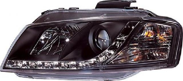 Audi A3 8P 03+ R8 Style LED Headlights Black V1