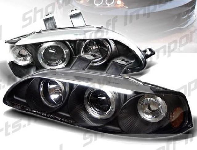 Honda Civic 92-95 2/3D Projector Headlights Black