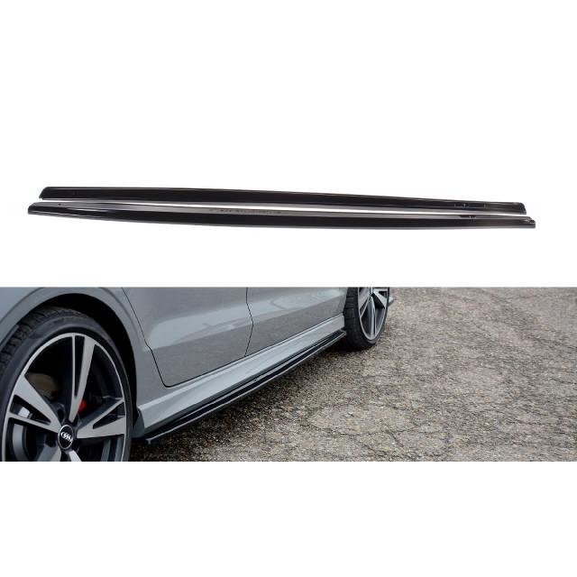 Seitenschweller Ansatz Cup Leisten für Audi RS3 8V FL Limousine schwarz matt