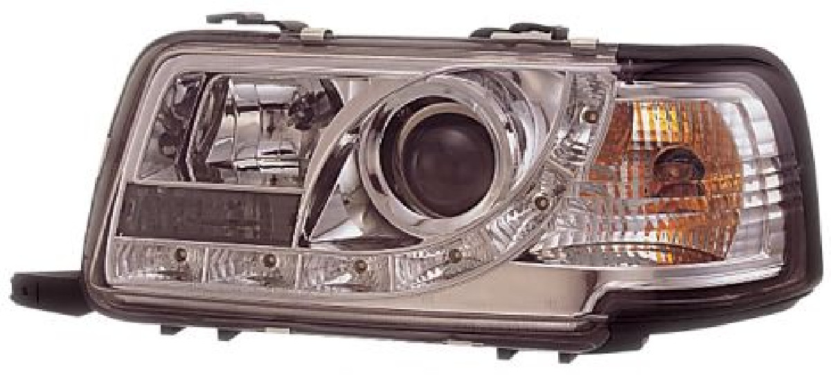 Audi 80 R8 Style LED Headlights Chrome V1