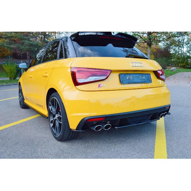 Heck Ansatz Flaps Diffusor passend für Audi S1 8X