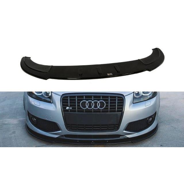 Cup Spoilerlippe Front Ansatz für Audi S3 8P schwarz matt