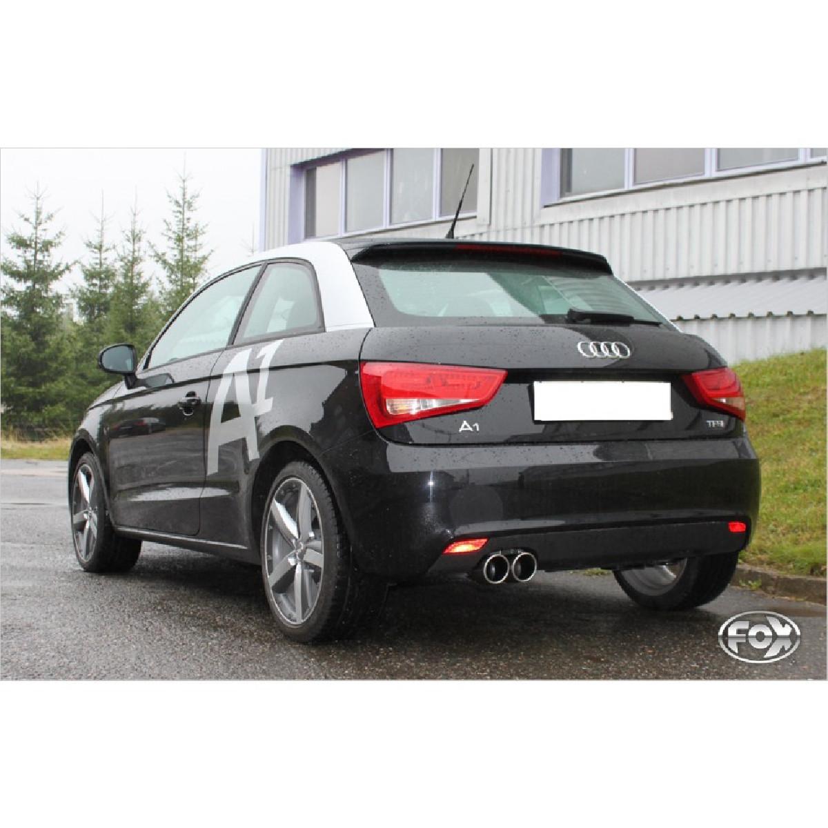 Audi A1 Kompakt/ A1 Sportback Endschalldämpfer - 2x90