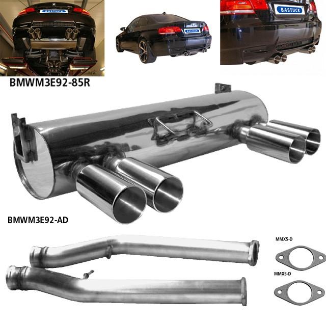 Bastuck Edelstahl Endschalldämpfer BMW M3 E92 Coupe, inkl. Adapterrohrsatz