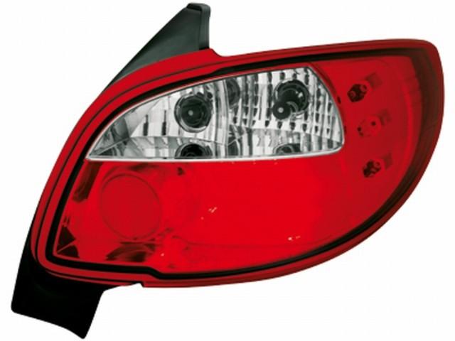 LED Rückleuchten Peugeot 206 (98-09) red/crystal