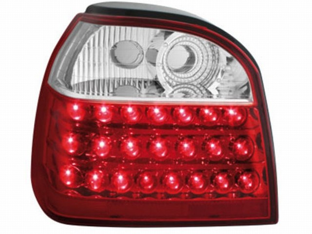LED Rückleuchten VW Golf III 91-98 red/crystal