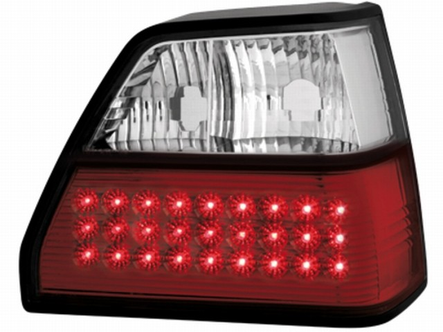 LED Rückleuchten VW Golf II 83-92 red/crystal