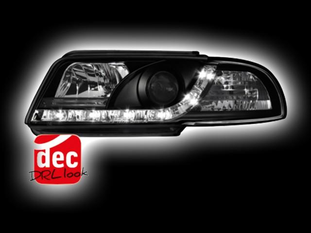 Tagfahrlicht-Optik Scheinwerfer AUDI A4 B5 schwarz