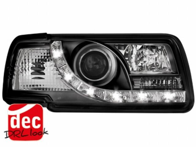 Tagfahrlicht-Optik Scheinwerfer AUDI 80 B4 Lim/Av. (91-94) schwarz