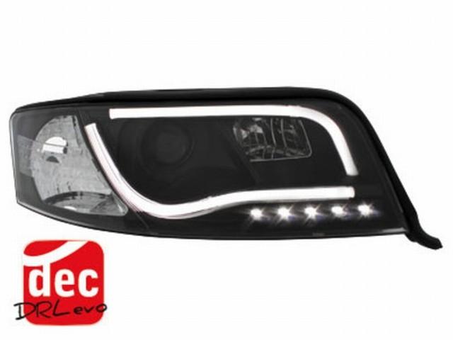 Tagfahrlicht Scheinwerfer AUDI A6 4B (01-04) schwarz