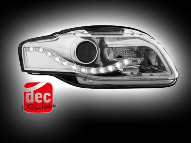 Tagfahrlicht-Optik Scheinwerfer AUDI A4 B7 (04-08) chrom