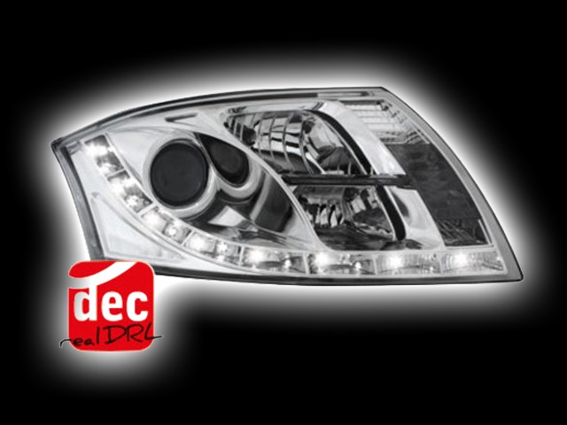 Tagfahrlicht Scheinwerfer AUDI TT 8N chrom