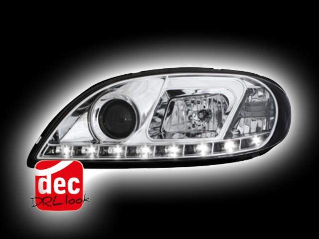 Tagfahrlicht-Optik Scheinwerfer Citroen Saxo (00-04) chrom