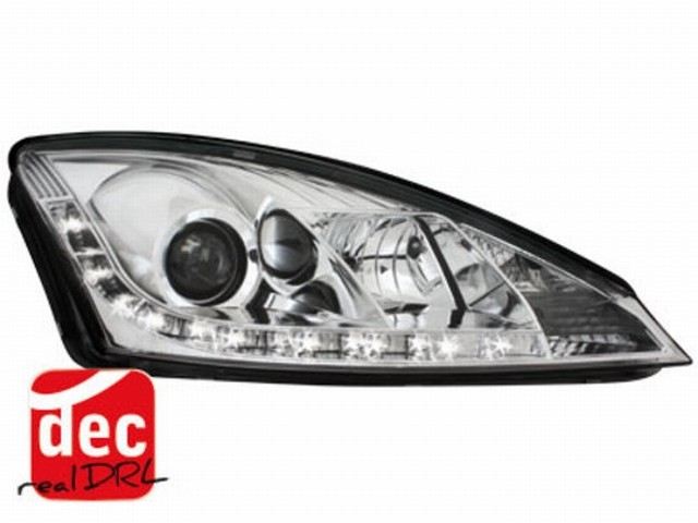 Tagfahrlicht Scheinwerfer Ford Focus mk1 01-04 chrom