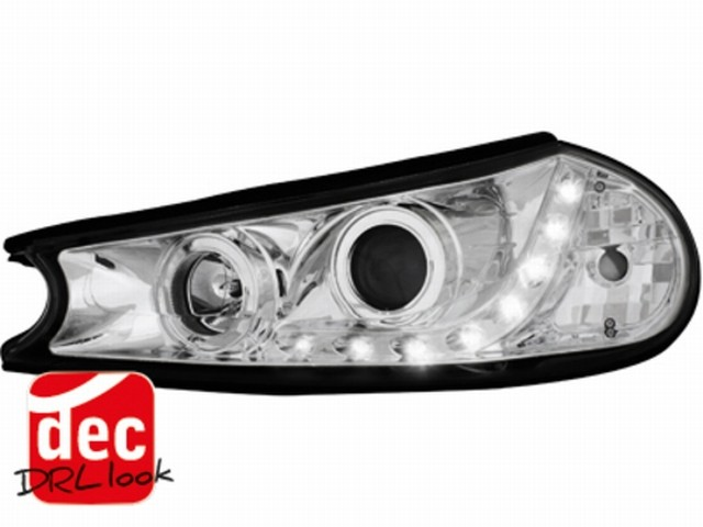Tagfahrlicht-Optik Scheinwerfer Ford Mondeo 96-00 chrom