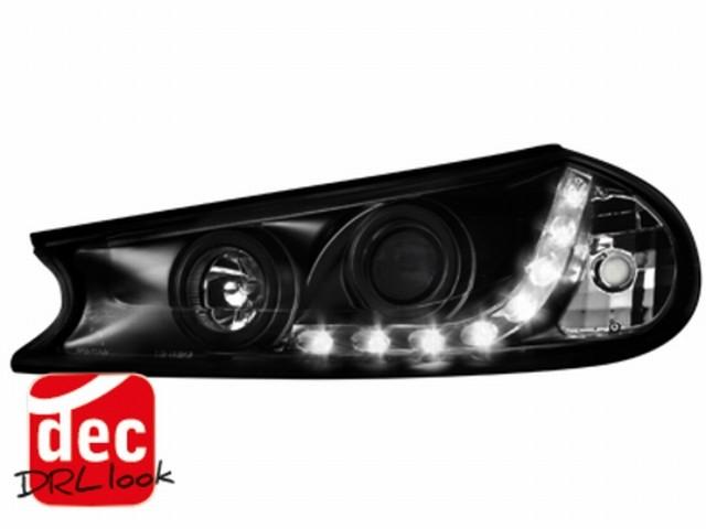 Tagfahrlicht-Optik Scheinwerfer Ford Mondeo 96-00 schwarz