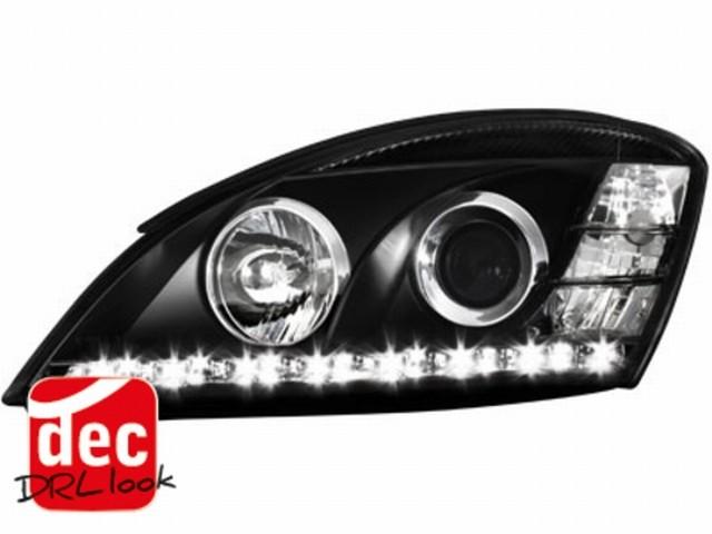 Tagfahrlicht-Optik Scheinwerfer KIA CEED 06-09 schwarz